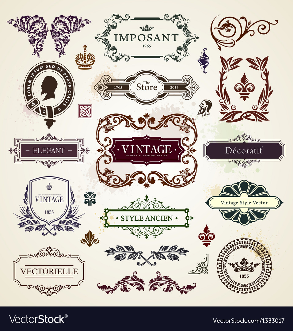 Calligraphic design elements vector | Price: 3 Credit (USD $3)