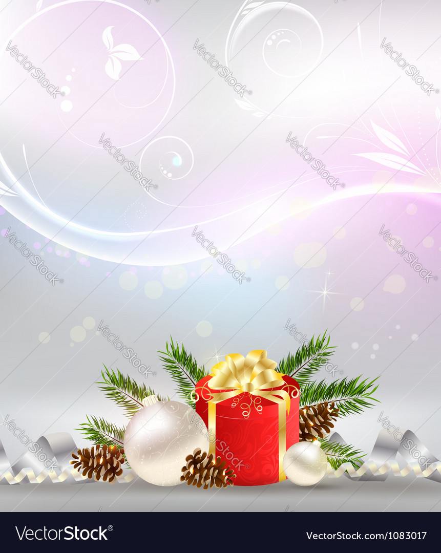 Christmas background with decoration gift vector | Price: 1 Credit (USD $1)