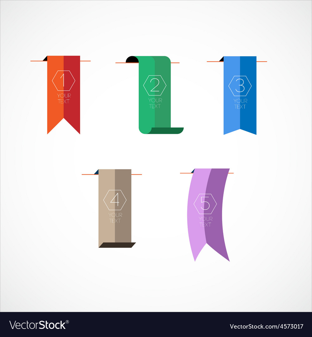 Colorful bookmarks vector   Price: 1 Credit (USD $1)