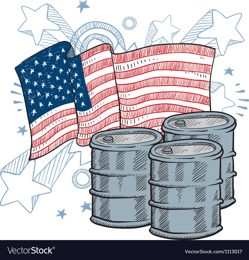Doodle americana oil vector | Price: 1 Credit (USD $1)