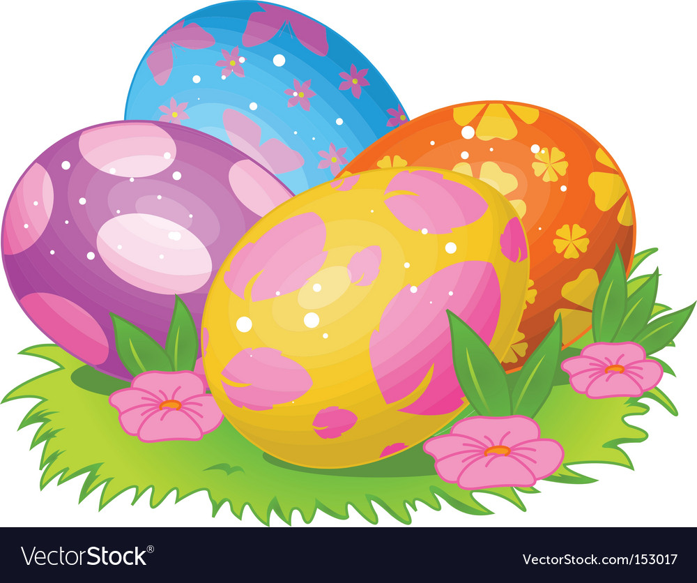 Easter eggs vector   Price: 1 Credit (USD $1)