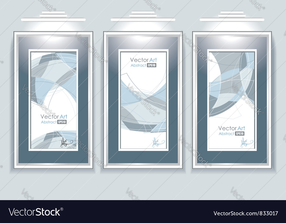 Empty frames with abstraction vector | Price: 1 Credit (USD $1)