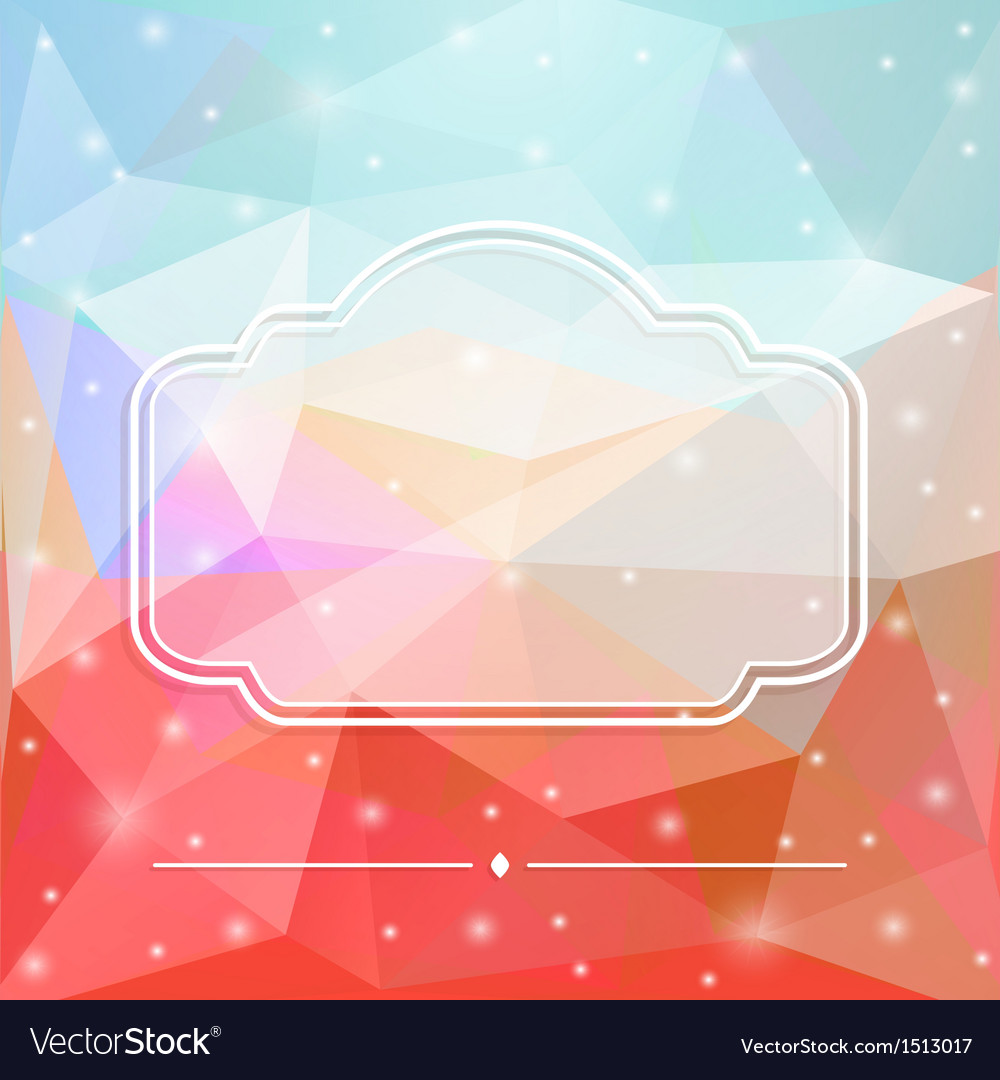 Glass frame vector | Price: 1 Credit (USD $1)