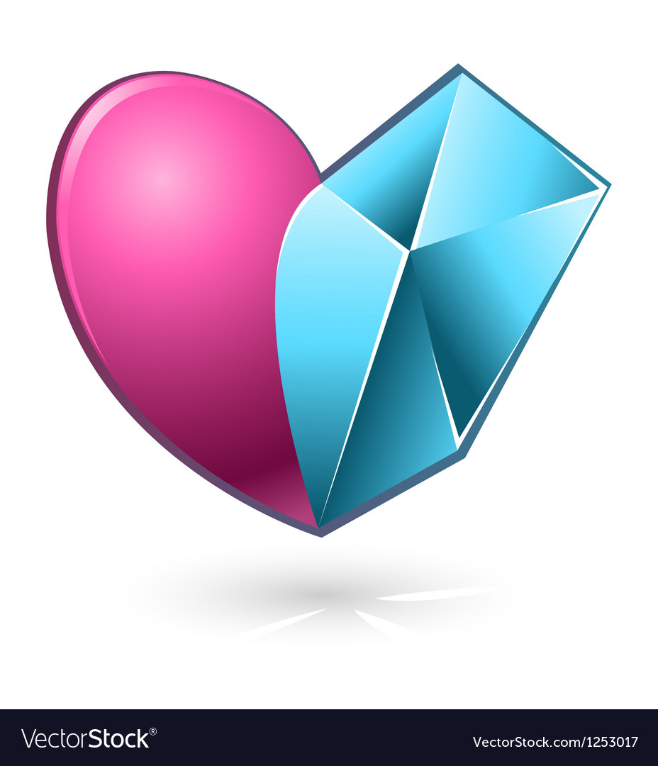 Heart pink blue vector | Price: 1 Credit (USD $1)