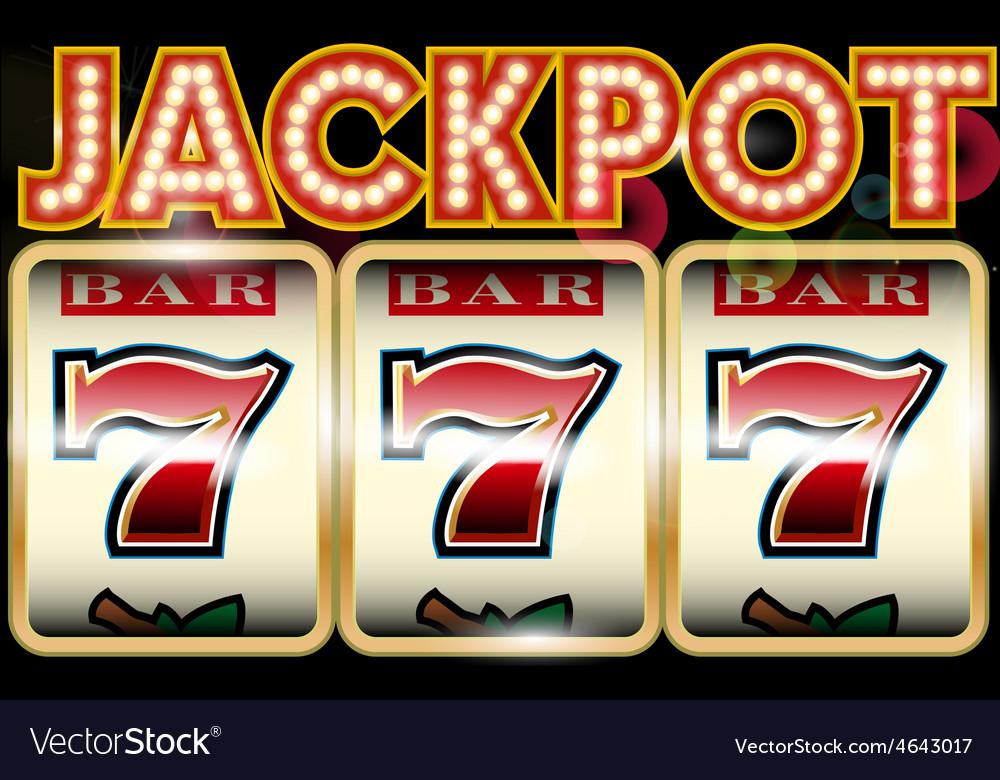 Lucky seven jackpot vector | Price: 1 Credit (USD $1)