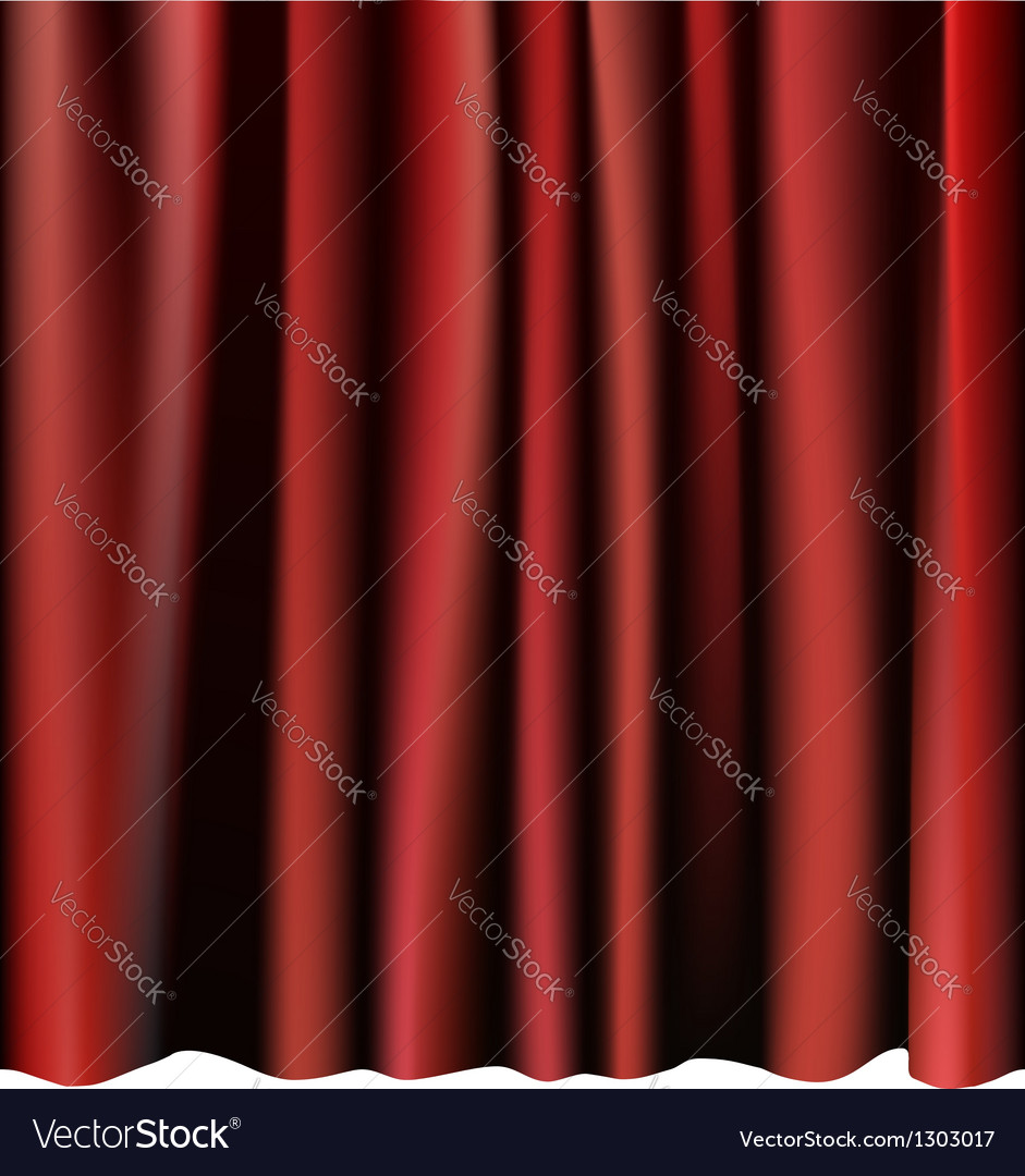 Red curtain for the stage editable meshes vector | Price: 1 Credit (USD $1)