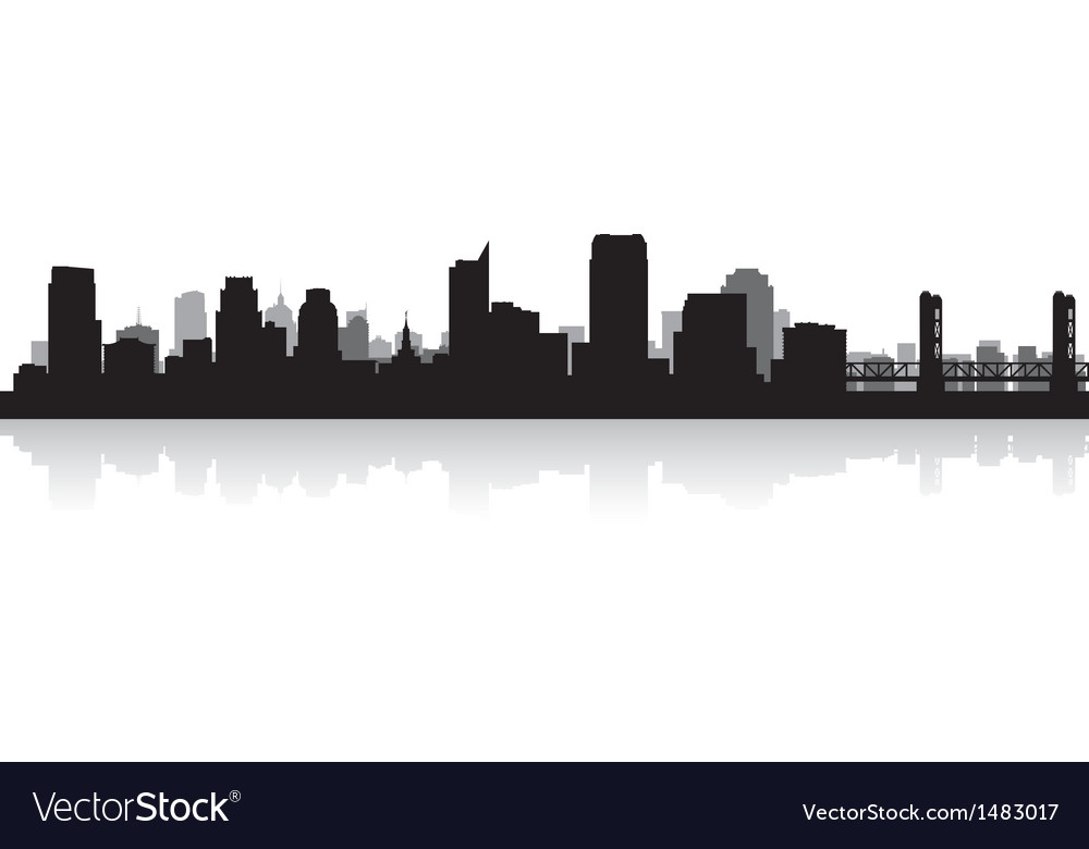 Sacramento usa city skyline silhouette vector | Price: 1 Credit (USD $1)