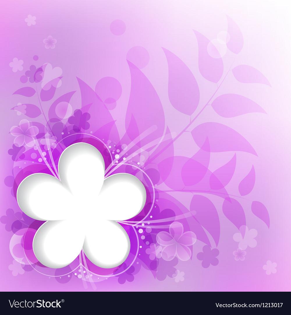 Violet floral background vector | Price: 1 Credit (USD $1)