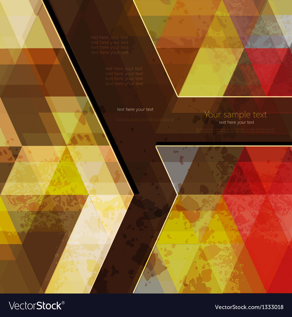 Abstract retro geometric background with place for vector | Price: 1 Credit (USD $1)