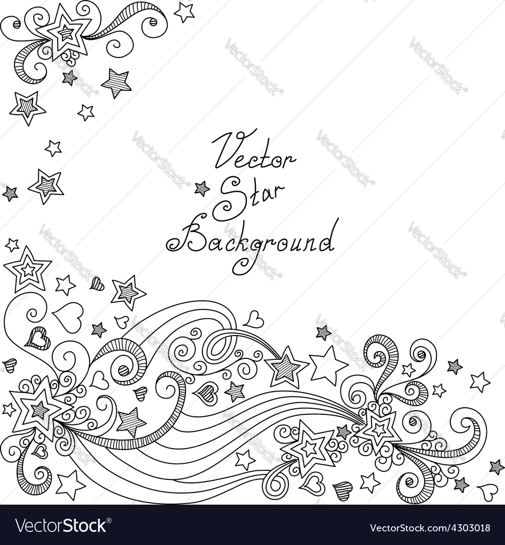 Black and white star pattern vector | Price: 1 Credit (USD $1)