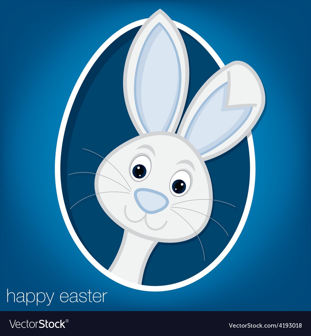 Easter bunny and egg card in format vector | Price: 1 Credit (USD $1)