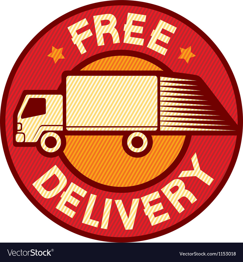 Free delivery truck vector | Price: 1 Credit (USD $1)