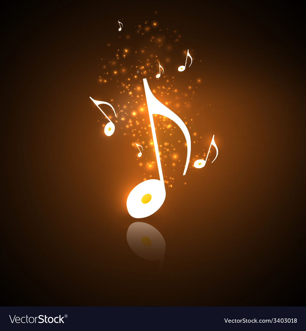 Golden music notes vector | Price: 1 Credit (USD $1)