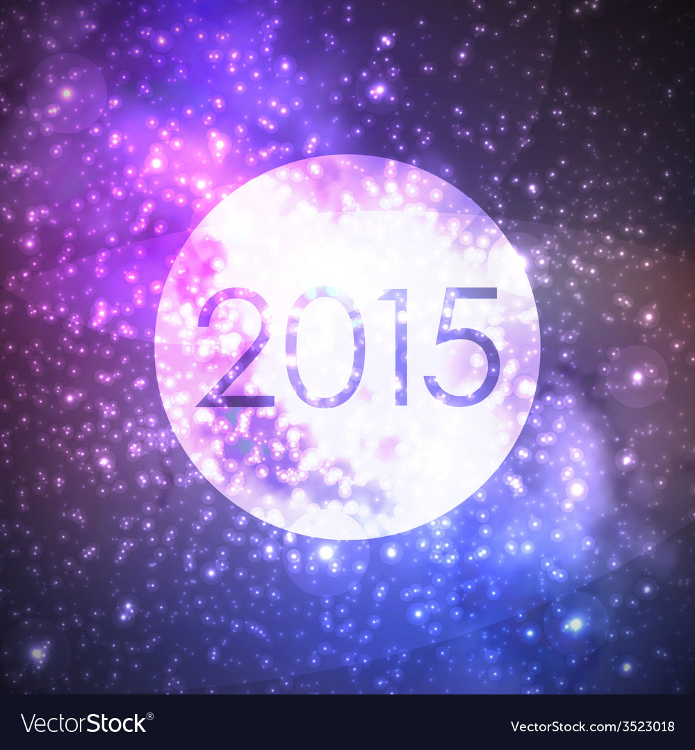 Happy new 2015 year abstract background with night vector | Price: 1 Credit (USD $1)