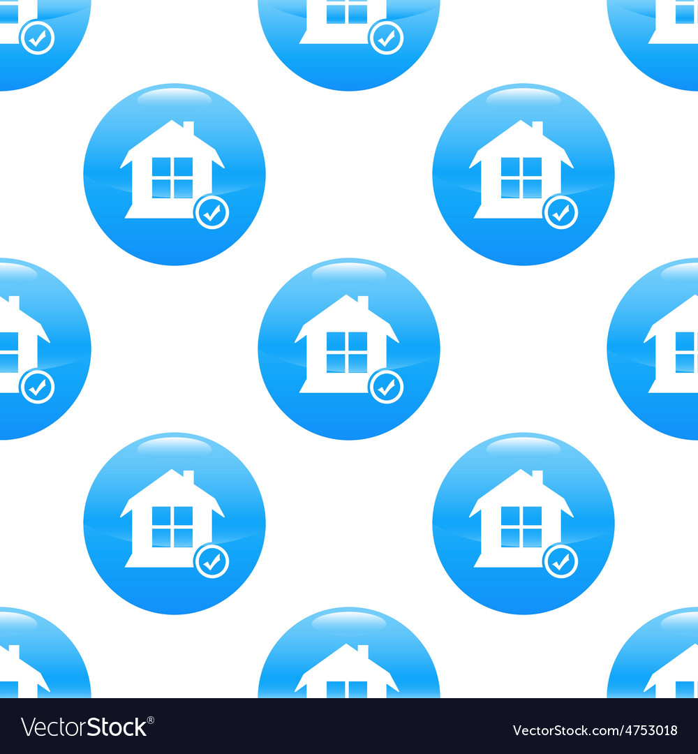 Select house sign pattern vector | Price: 1 Credit (USD $1)