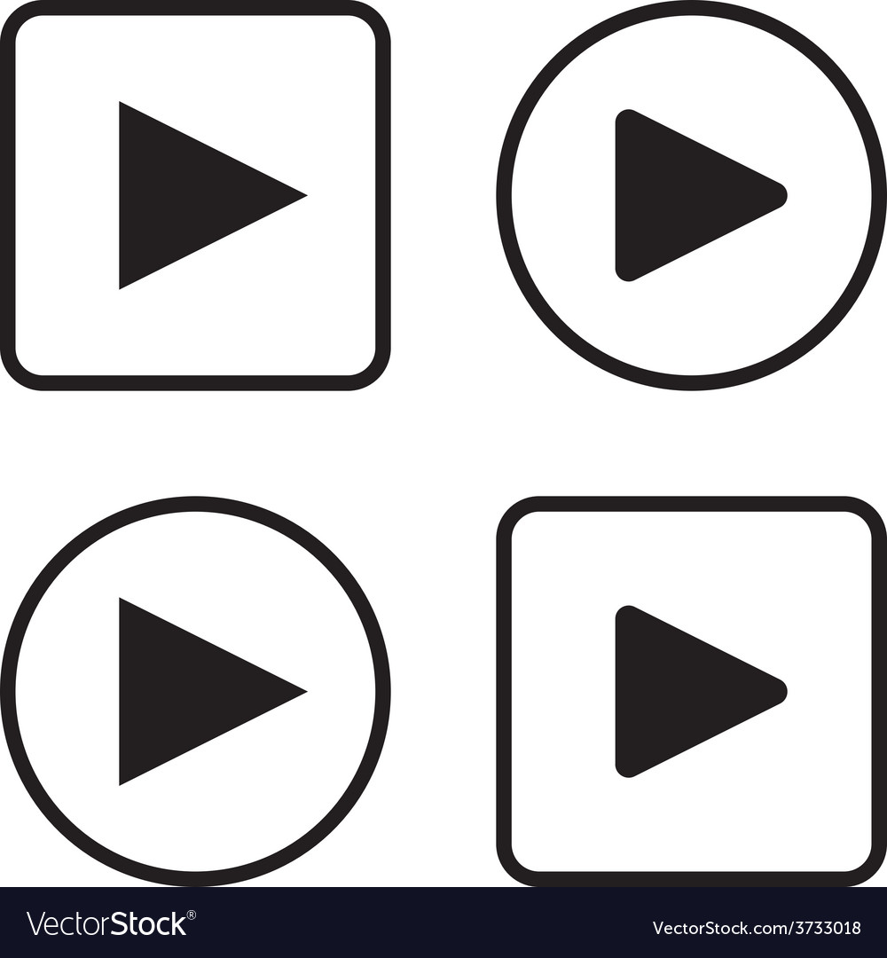 Set of play button icons vector | Price: 1 Credit (USD $1)