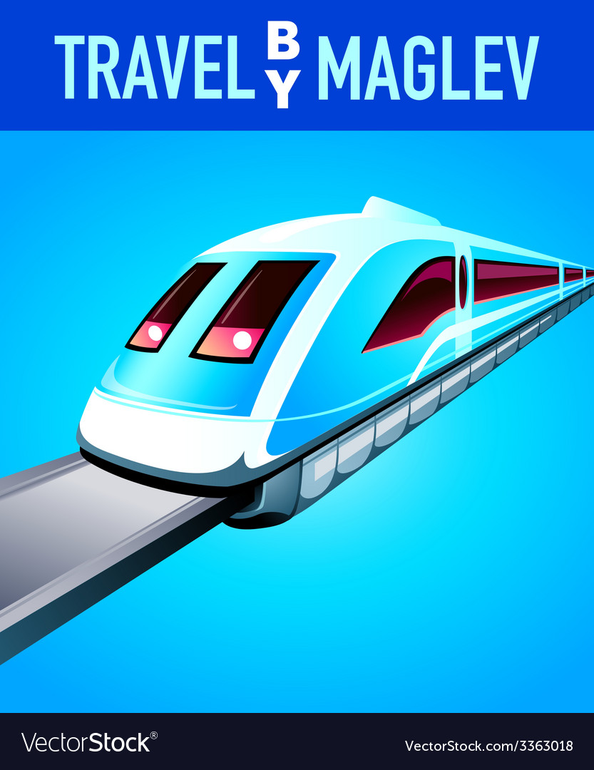 Travel by maglev train vector | Price: 1 Credit (USD $1)