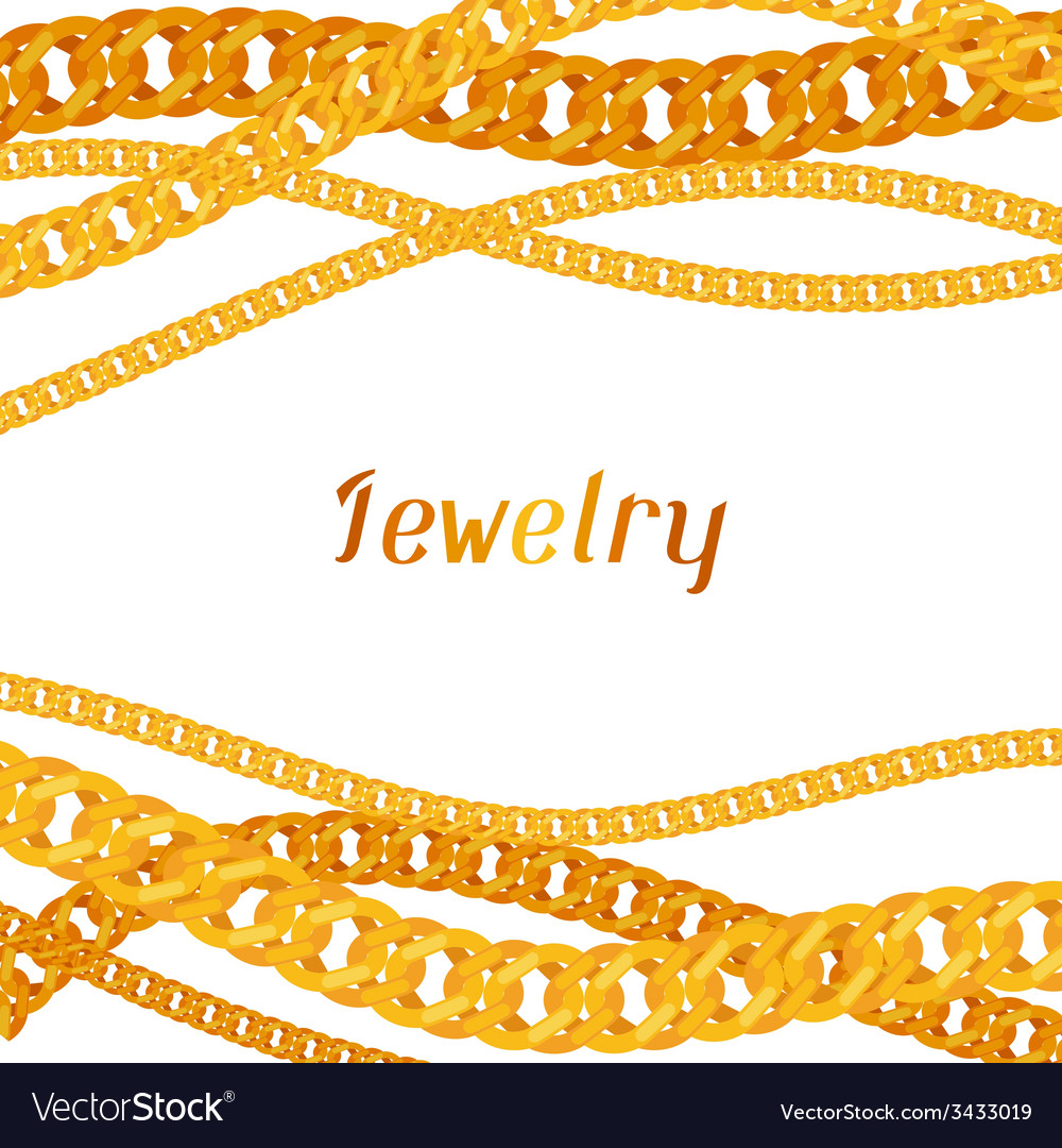 Background design with beautiful jewelry gold vector | Price: 1 Credit (USD $1)