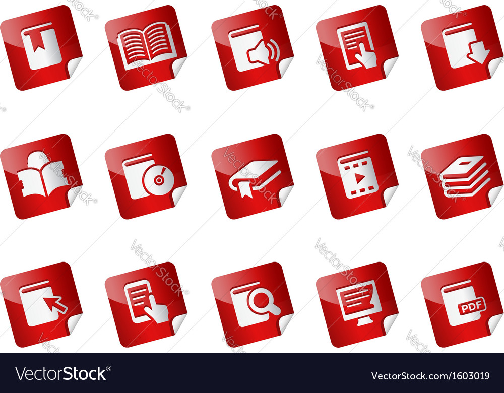 Book stickers vector | Price: 1 Credit (USD $1)