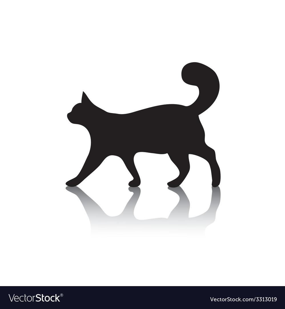 Cat icon symbol on white vector | Price: 1 Credit (USD $1)