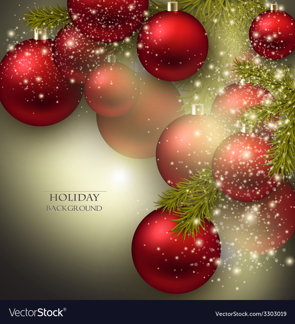 Christmas background with balls red xmas baubles vector   Price: 3 Credit (USD $3)