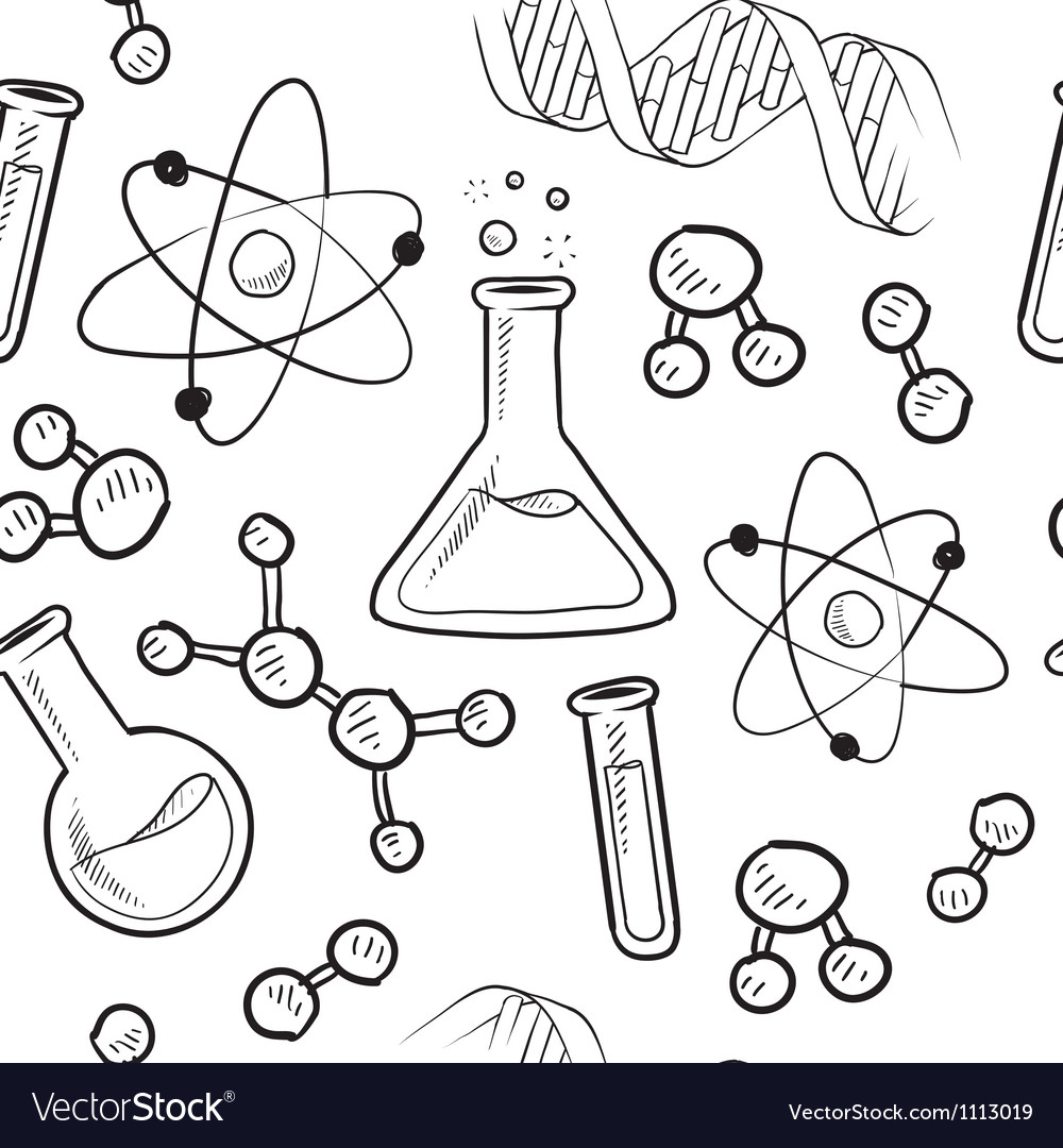 Doodle science pattern seamless vector | Price: 1 Credit (USD $1)