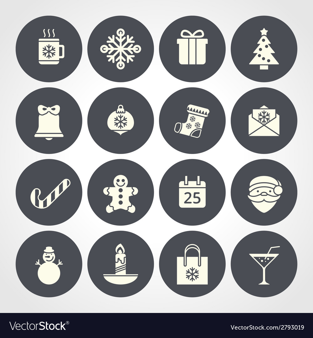 Flat christmas icons for web and applications vector   Price: 1 Credit (USD $1)