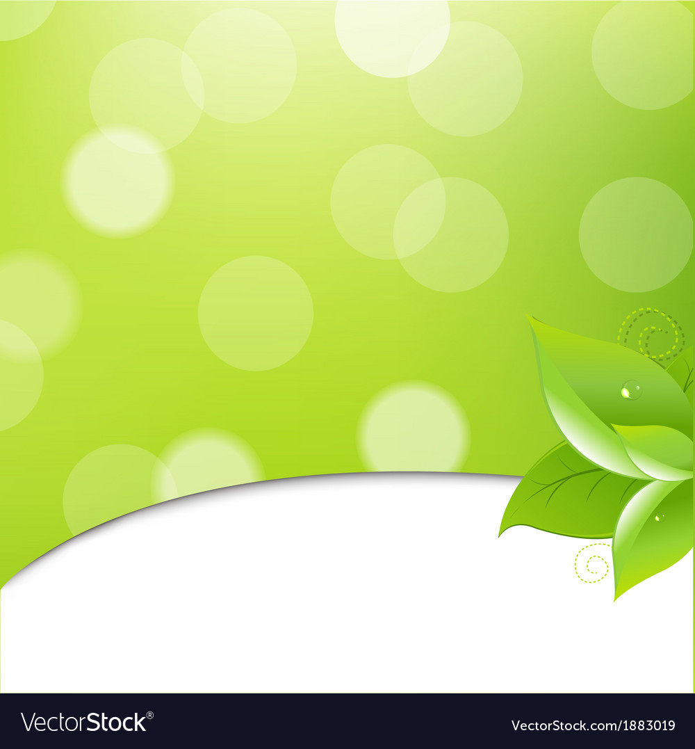 Green ecology background with leaves vector | Price: 1 Credit (USD $1)