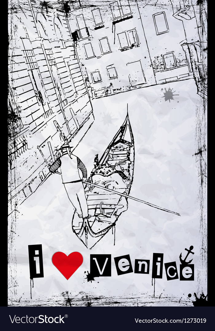 I love venice vector | Price: 1 Credit (USD $1)