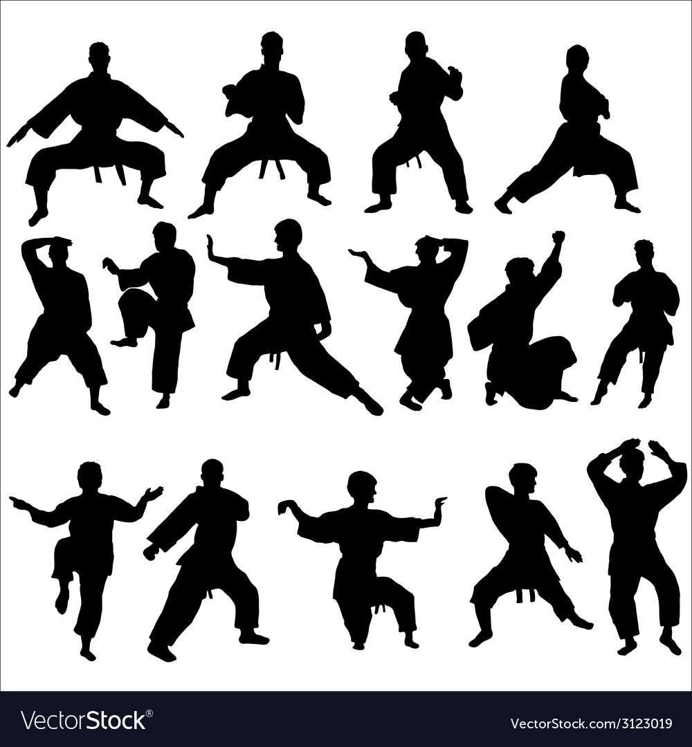 Karate kata pose vector | Price: 1 Credit (USD $1)