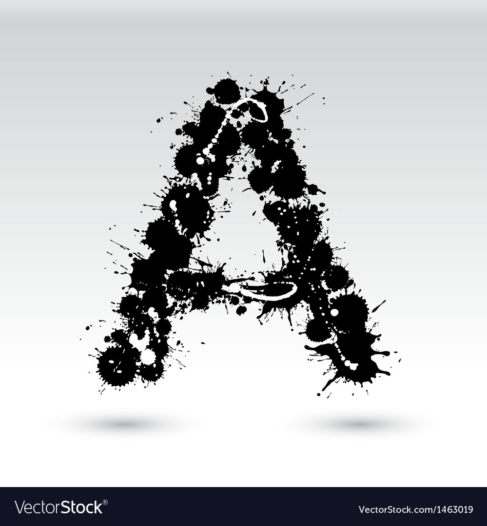 Letter a formed by inkblots vector | Price: 1 Credit (USD $1)