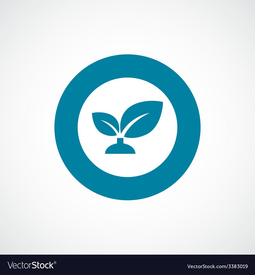 Plant bold blue border circle icon vector | Price: 1 Credit (USD $1)