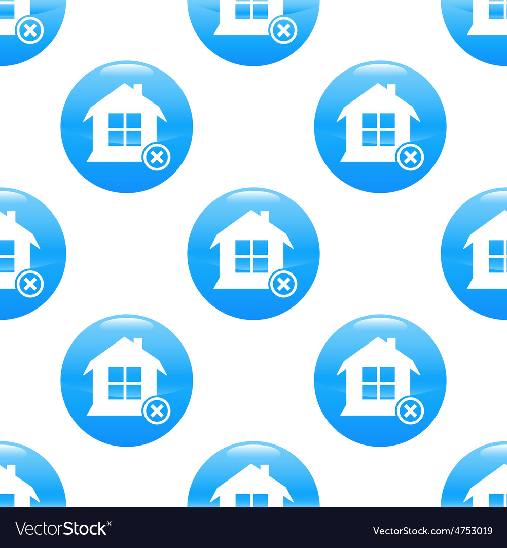 Remove house sign pattern vector | Price: 1 Credit (USD $1)