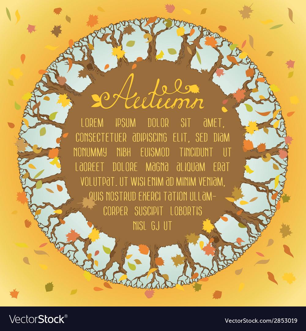 Round autumn background vector | Price: 1 Credit (USD $1)