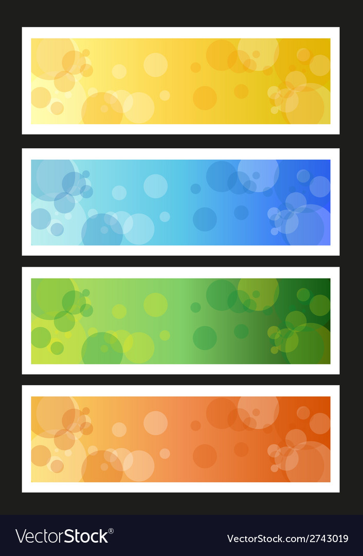 Seasonal banners vector | Price: 1 Credit (USD $1)