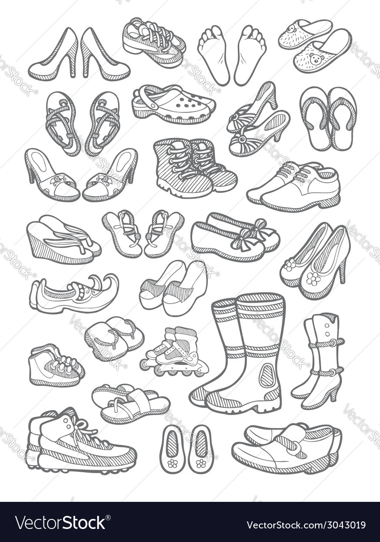 Shoes icons vector | Price: 3 Credit (USD $3)