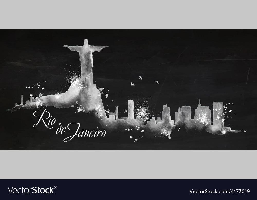 Silhouette chalk rio de janeiro vector | Price: 3 Credit (USD $3)