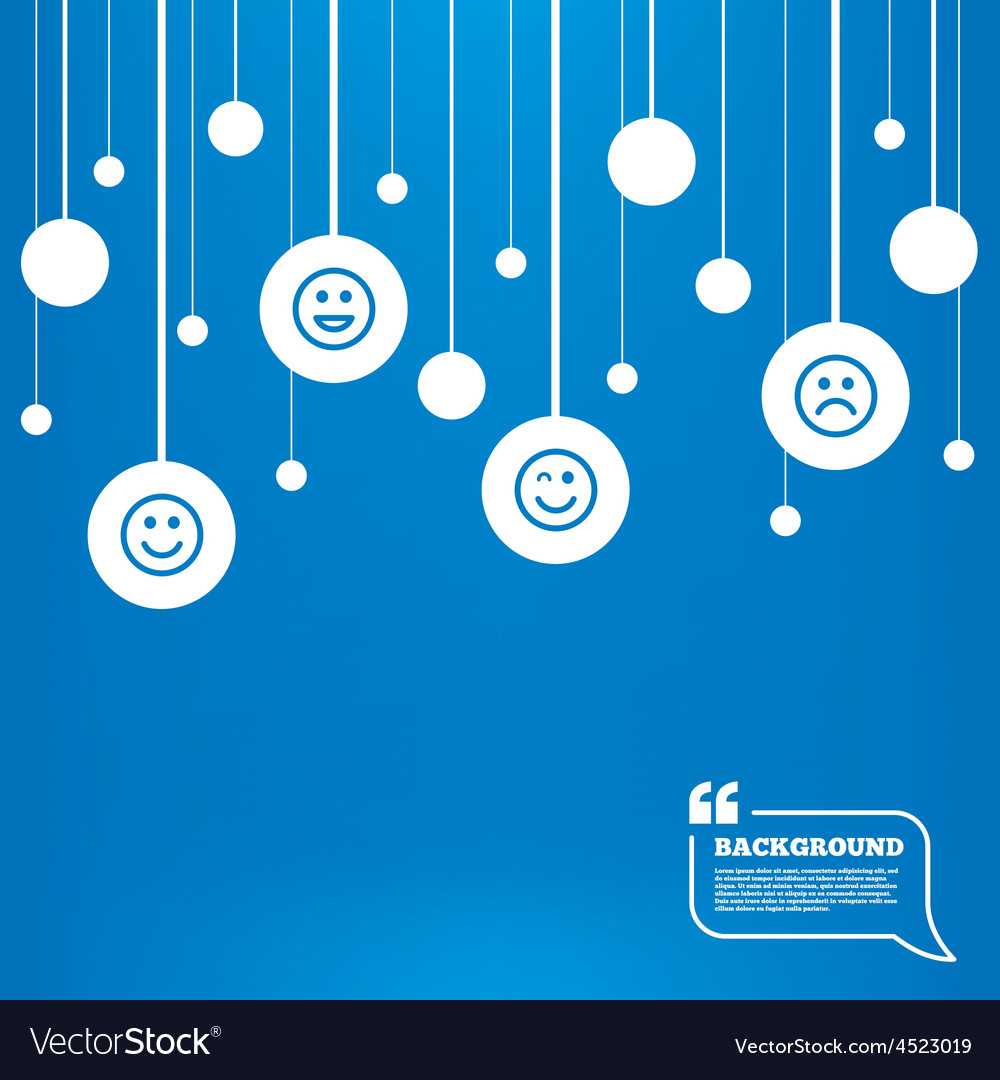 Smile icons happy sad and wink faces vector | Price: 1 Credit (USD $1)
