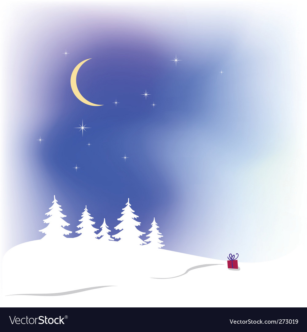 Snow christmas background vector | Price: 1 Credit (USD $1)