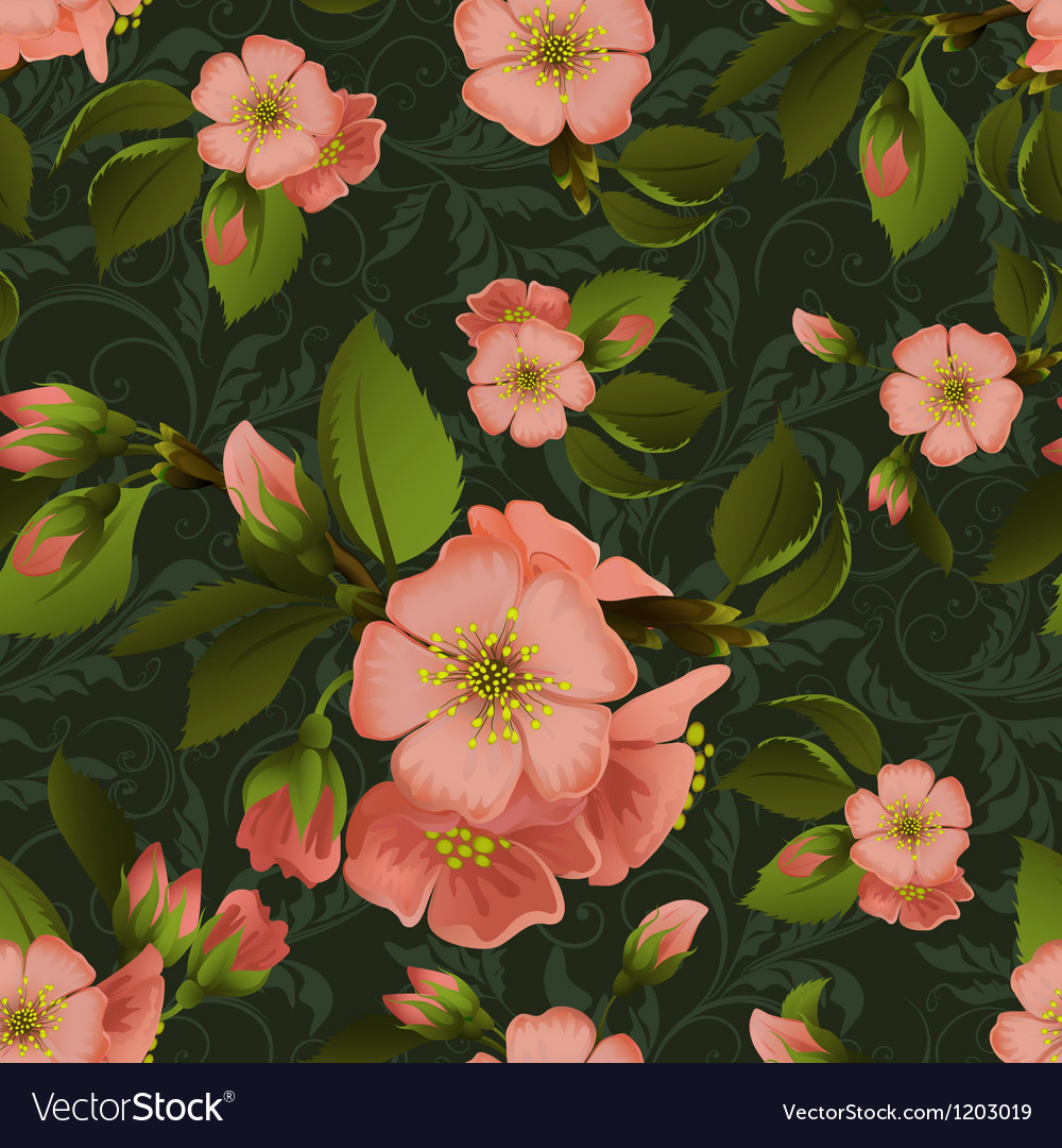 Vintage floral seamless pattern with beautiful vector | Price: 1 Credit (USD $1)