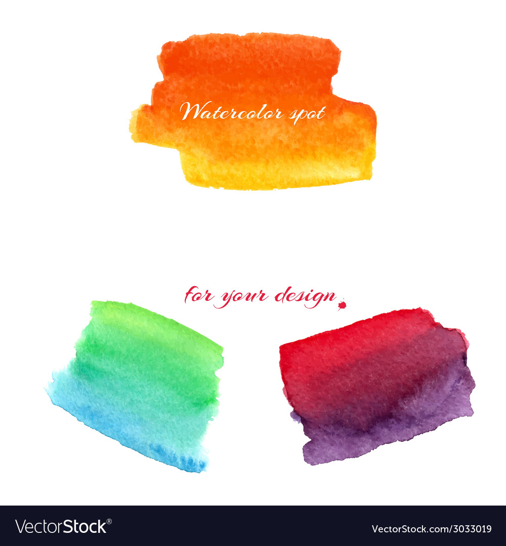 Watercolor spots for design elements vector | Price: 1 Credit (USD $1)