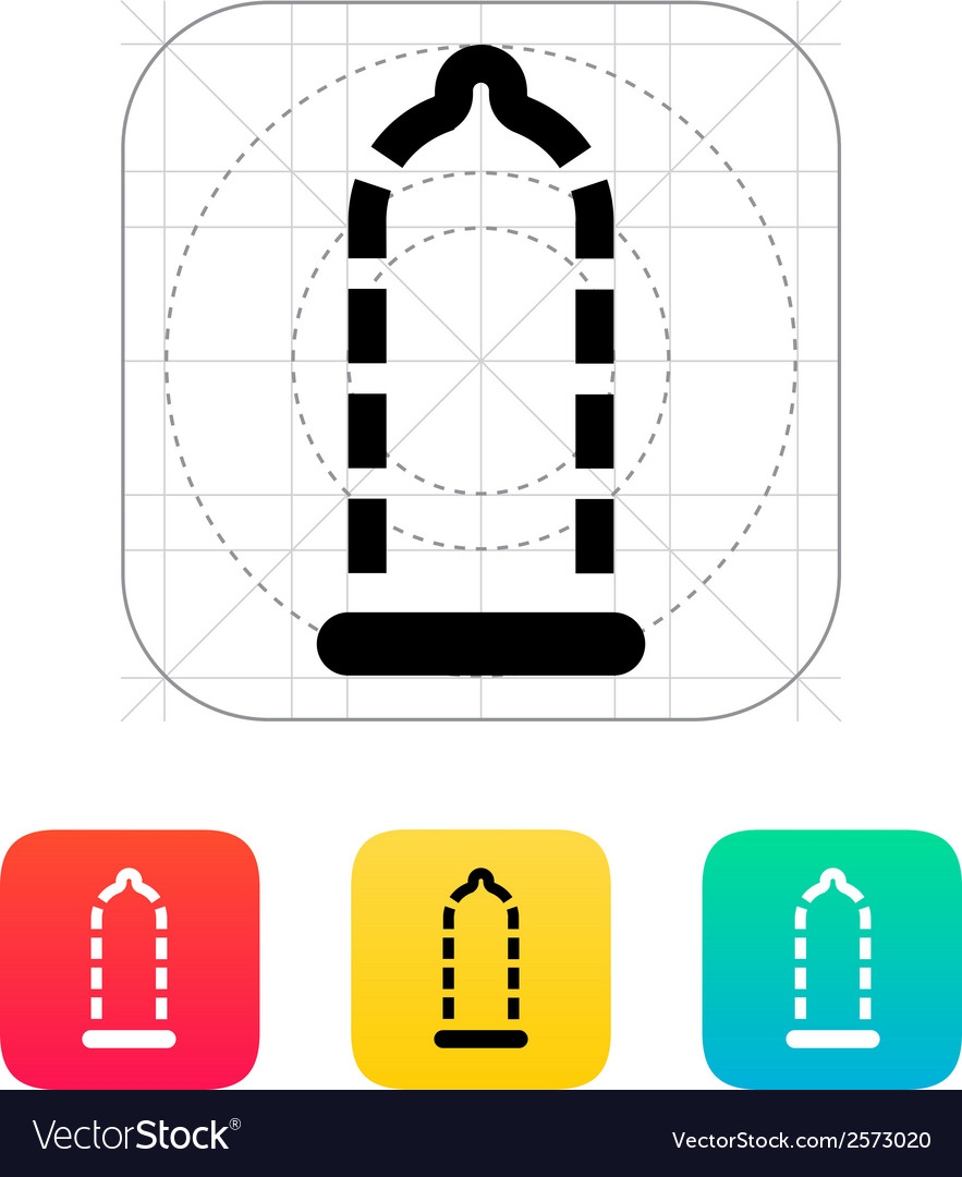 Absent contraception icon vector | Price: 1 Credit (USD $1)