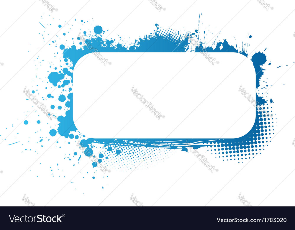 Blue frame vector | Price: 1 Credit (USD $1)