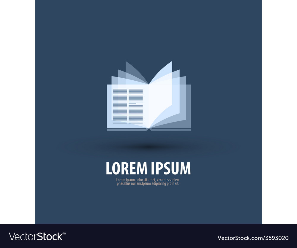 Book logo icon symbol template emblem vector | Price: 1 Credit (USD $1)