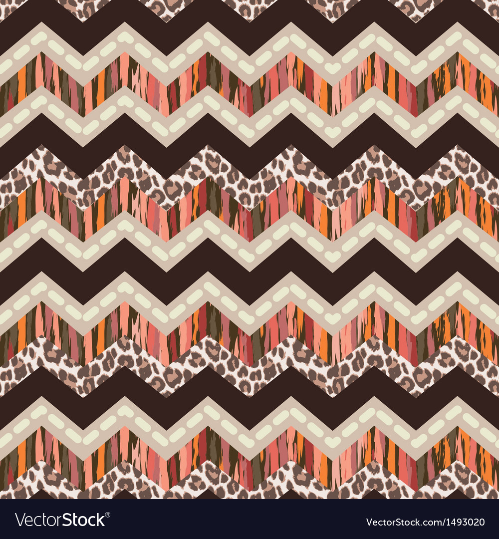 Brown zigzag seamless vector