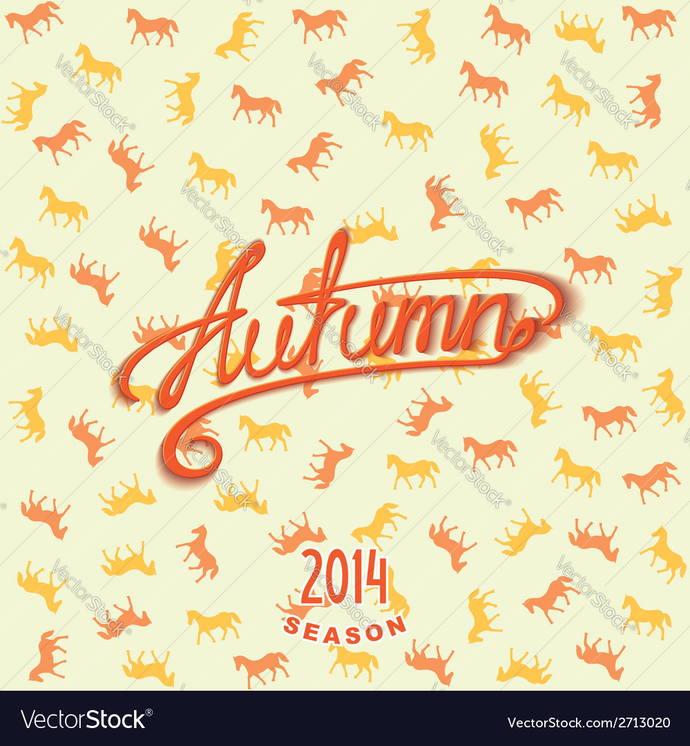 Calligraphy design lettering autumn vector | Price: 1 Credit (USD $1)