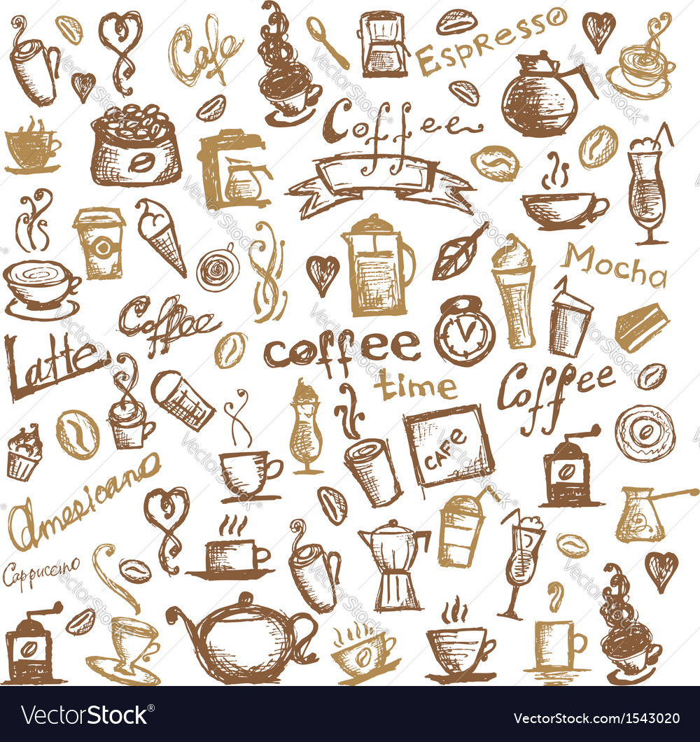 Coffee time background for your design vector | Price: 1 Credit (USD $1)