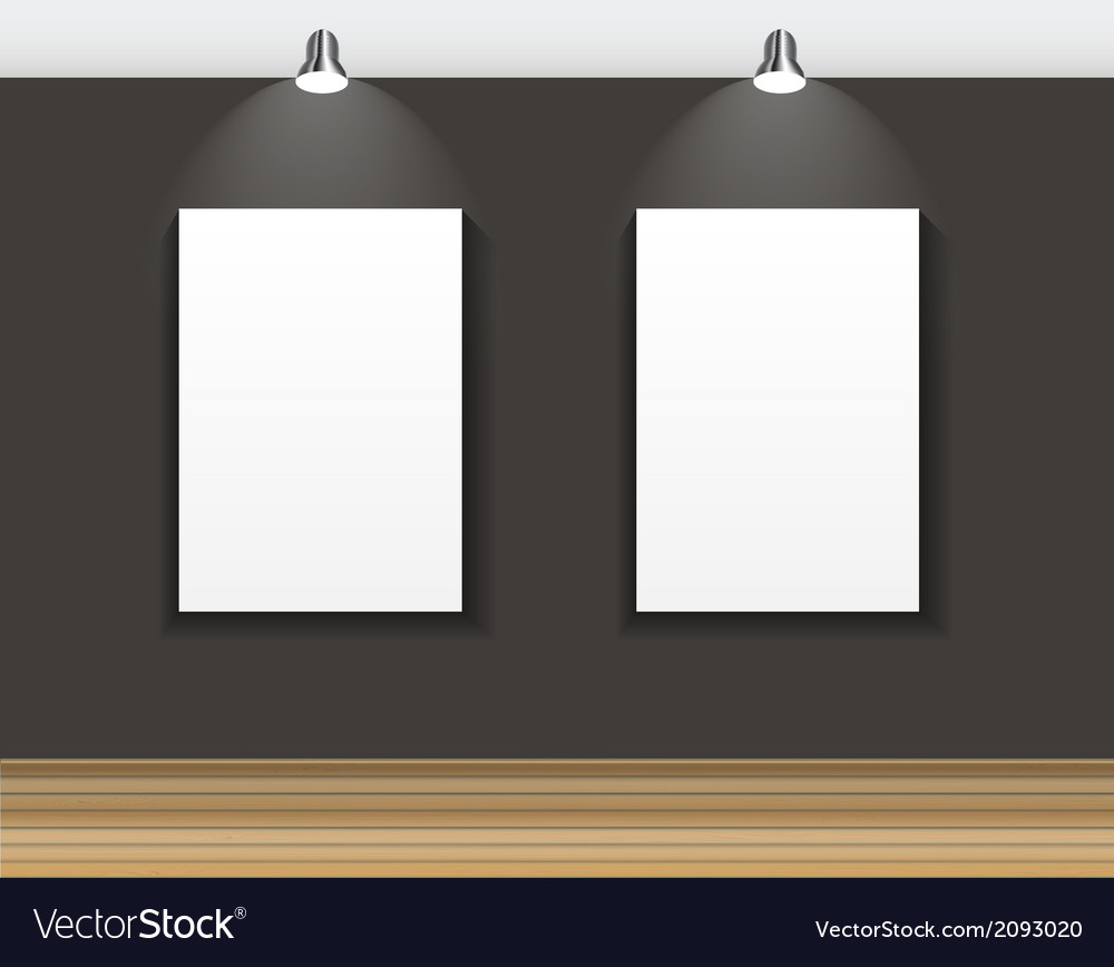Frame on wall for your text and images vector | Price: 1 Credit (USD $1)