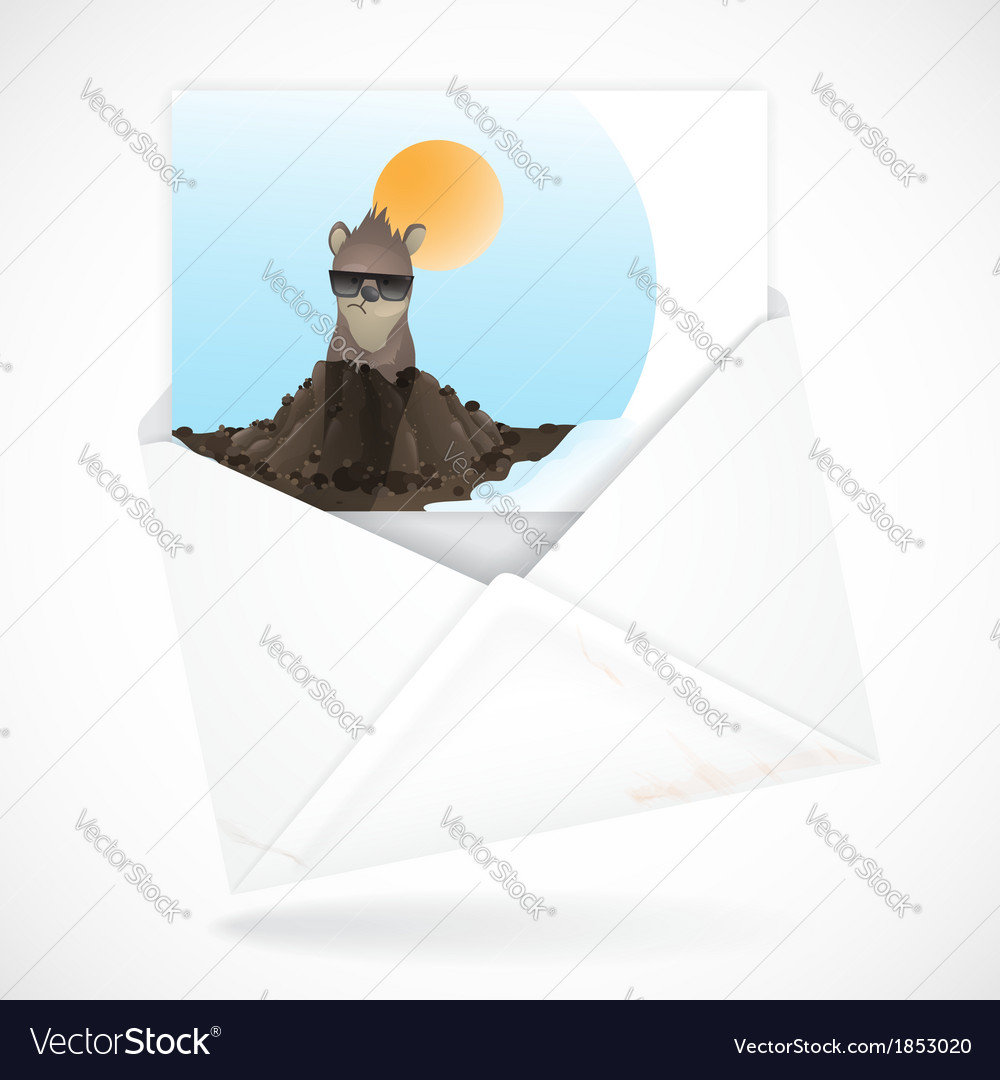 Happy groundhog day vector | Price: 1 Credit (USD $1)