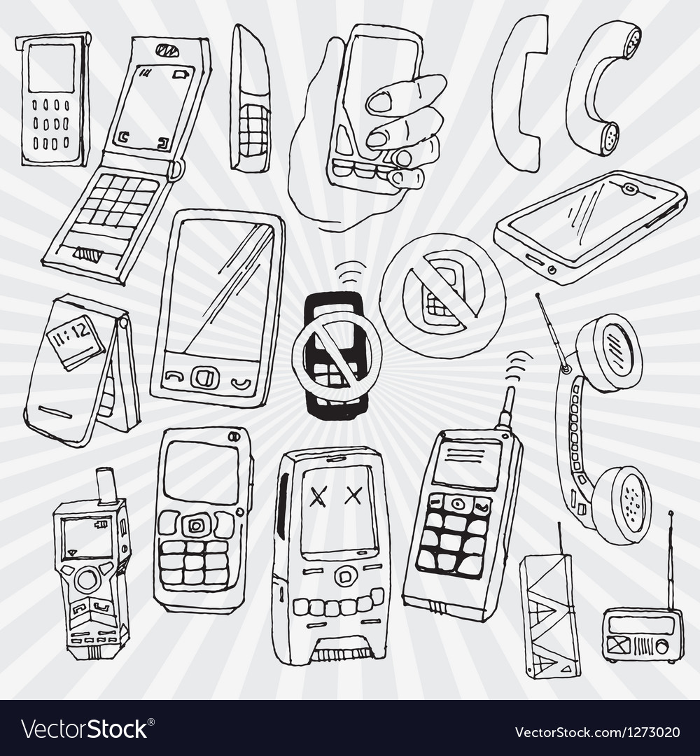 Mobile phones and other devices vector | Price: 1 Credit (USD $1)